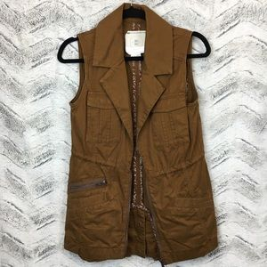 Anthropologie Hei Hei Brown Utility Vest